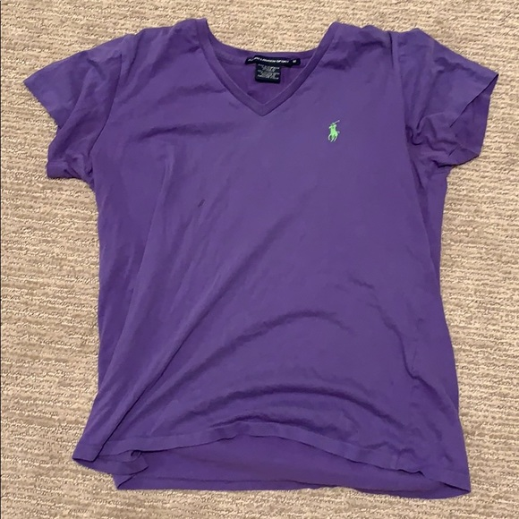 Polo by Ralph Lauren Tops - v-neck purple and green polo t-shirt